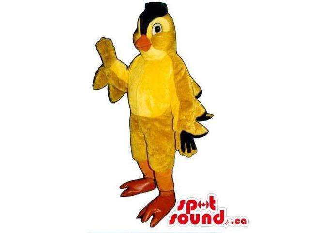 Customised Yellow Bird Canadian SpotSound Mascot With A Black Comb