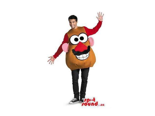 Great Mr. Potato Canadian SpotSound Mascot Or Halloween Adult Size Costume