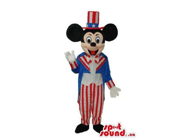 Mickey Mouse Disney Character With American Flag Gear