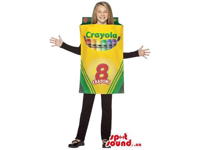 Peculiar Large Crayola Eight Crayon Box Children Size Costume
