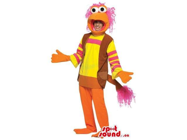Orange And Yellow Muppets Cartoon Character Costume Or Canadian SpotSound Mascot