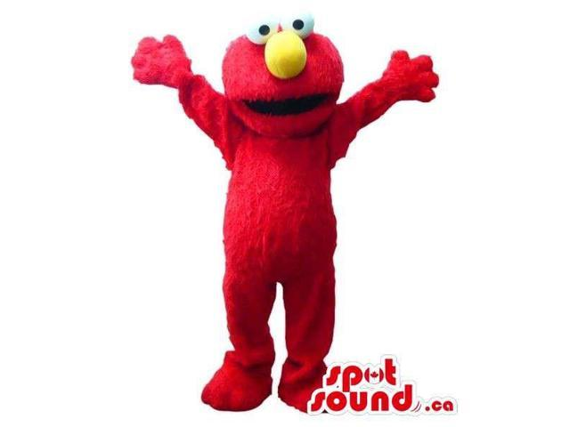Red And Woolly Elmo Sesame Street Tv Cartoon Character
