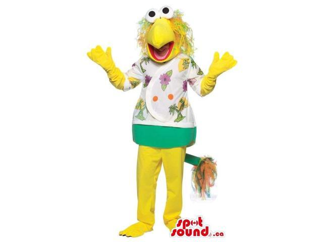Yellow And Green Muppets Cartoon Character Costume Or Canadian SpotSound Mascot