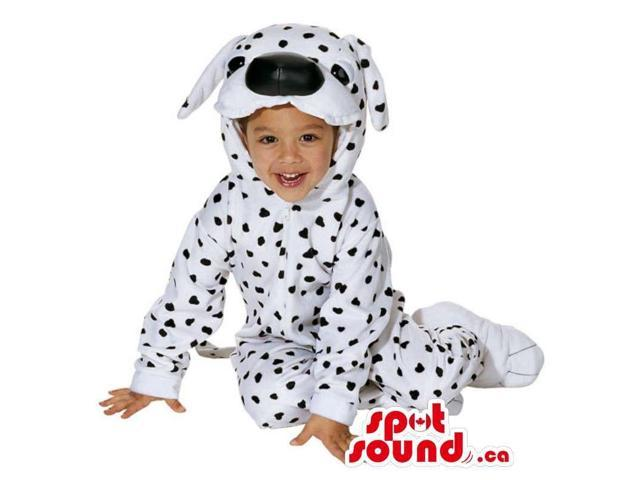 Dalmatian Dog Plush Toddler Size Costume With Black Nose