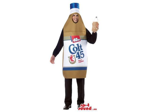 Large Drink Bottle Adult Size Costume Or Canadian SpotSound Mascot With Brand Name