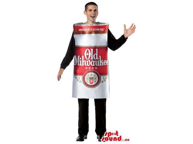 Large Beer Can Adult Size Costume Or Canadian SpotSound Mascot With Brand Name