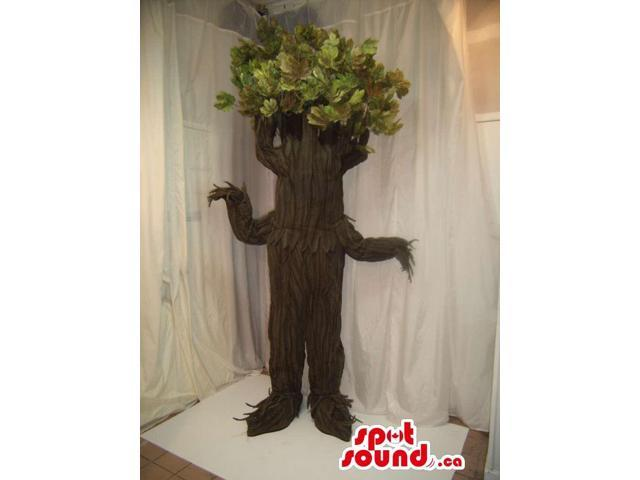 Real-Looking Large Tree Canadian SpotSound Mascot Or Theater Prop With Leaves