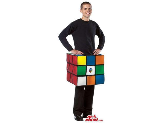 Original Colourful Rubik Cube Game Adult Size Costume