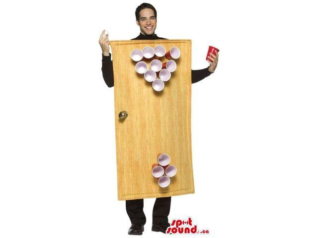 Peculiar Large Beer Pong Drinking Game Adult Size Costume