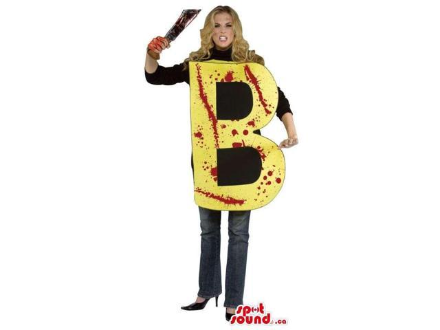 Horror Letter B Adult Size Costume With Blood Stains And A Knife