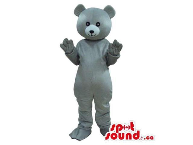 Customised Cute All Grey Teddy Bear Plush Canadian SpotSound Mascot