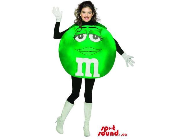 Shinny Green M&M'S Chocolate Brand Adult Size Costume