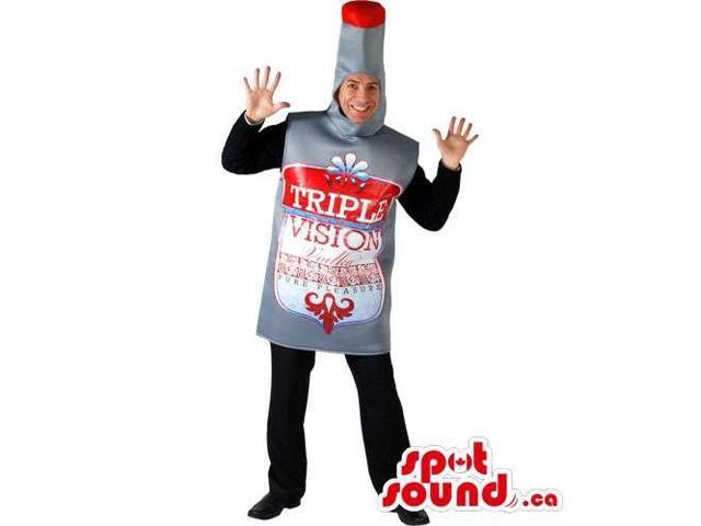 Alcoholic Drink Bottle Adult Size Costume Or Canadian SpotSound Mascot