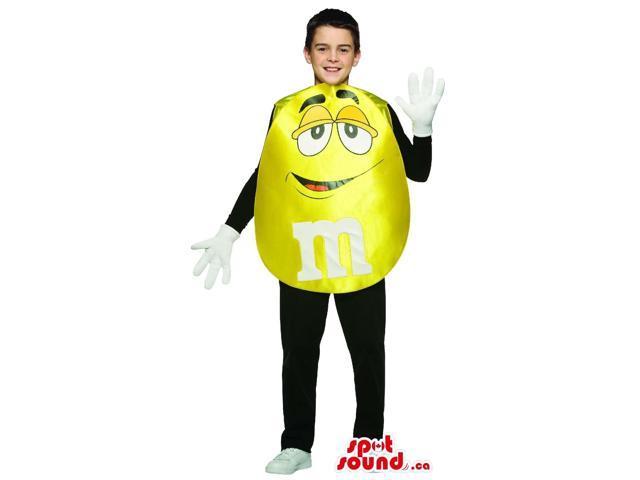 Shinny Yellow M&M'S Chocolate Brand Children Size Costume