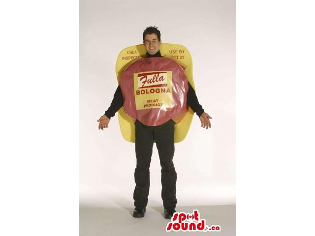 Ham And Cheese Adult Size Costume Or Canadian SpotSound Mascot With Brand Name