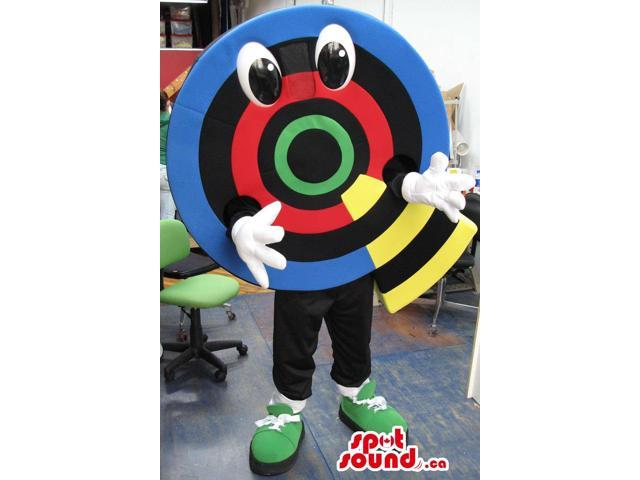 Colourful Large Target Dart Board Canadian SpotSound Mascot With A Cute Face