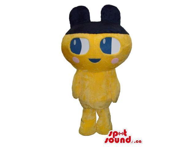 Cute Kawaiii Yellow Creature Plush Canadian SpotSound Mascot With Black Ears