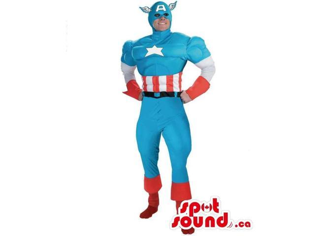 Great Captain America Superhero Adult Size Costume