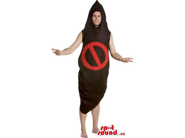 Cocoon-Shaped Adult Size Costume With A Access Denied Sign