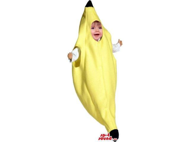 Very Cute Closed Yellow Banana Fruit Toddler Size Costume