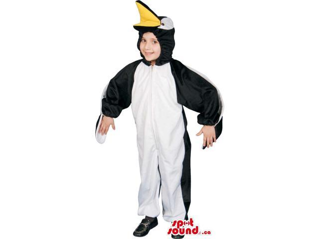Large Cute Penguin Animal Children Size Plush Costume
