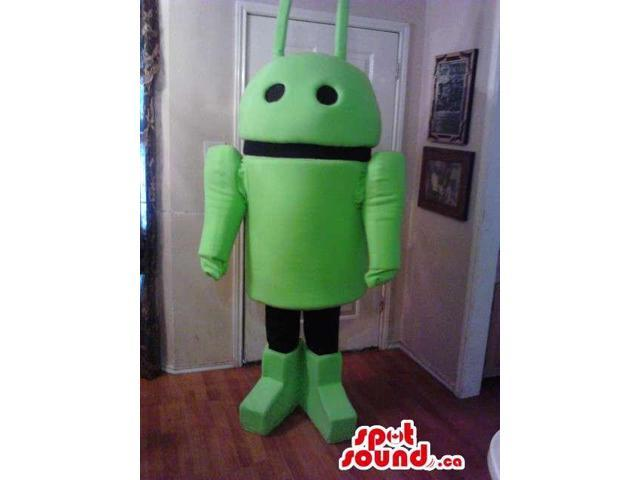 Android Technology Mobile Canadian SpotSound Mascot In Green And Black