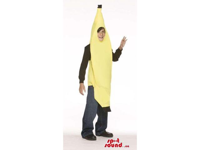 Very Cute Closed Yellow Banana Fruit Young Ones Size Costume
