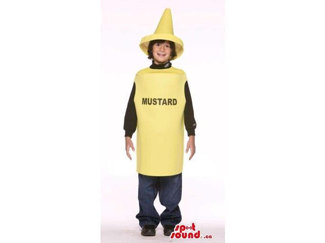 Very Cute Yellow Mustard Bottle Children Size Costume