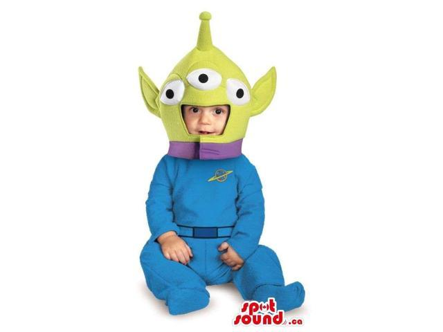 Peculiar Toy Story Alien Plush Halloween Toddler Size Costume