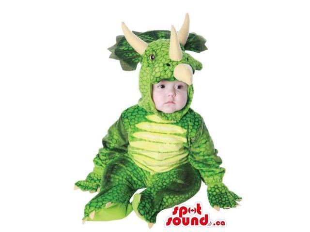 Great Triceratops Dinosaur Toddler Size Plush Costume