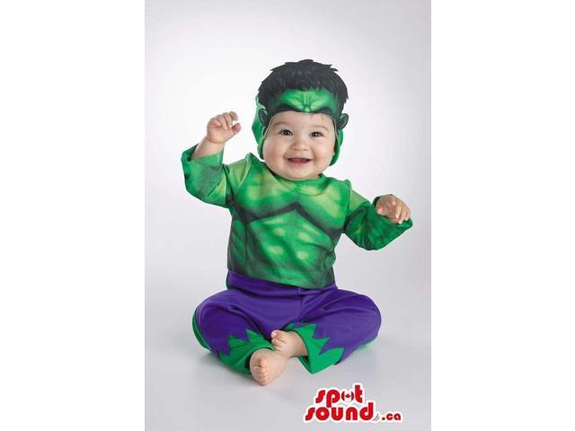 Cool Hulk Comic Cartoon Character Toddler Size Costume