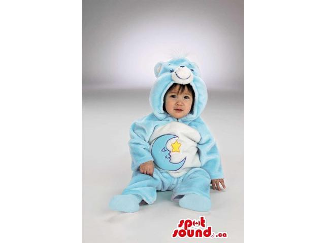 Moon Care Bear Blue And White Bear Plush Toddler Size Costume