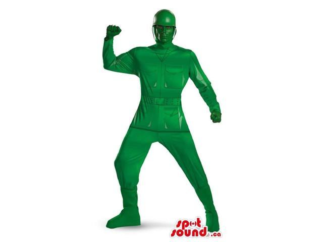 Customisable Superb All Green Toy Soldier Adult Size Costume