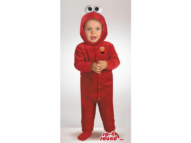 Cute Red Sesame Street Elmo Plush Toddler Size Costume