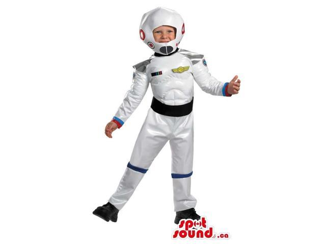 Great White Space Astronaut Children Size Costume