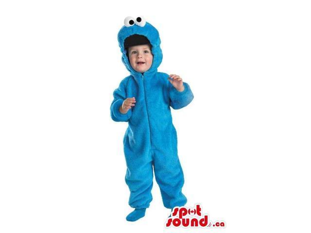 Blue Sesame Street Cookie Monster Plush Toddler Size Costume