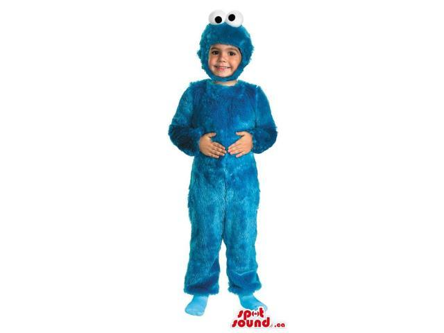 Great Blue Cookie Monster Children Size Plush Costume