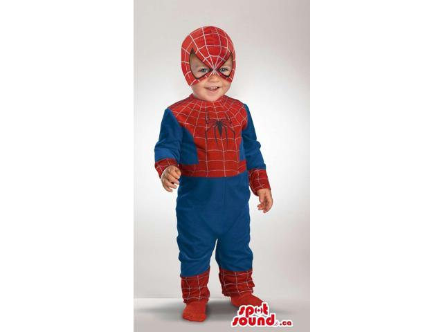 Cool Spiderman Comic Cartoon Character Toddler Size Costume