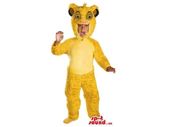 Great Yellow Lion King Character Children Size Costume