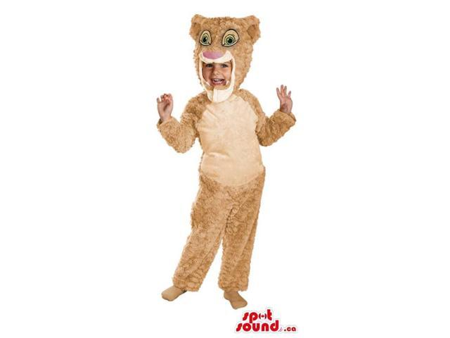 Great Beige Lion King Character Children Size Costume