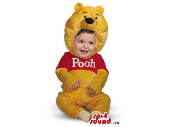 Cute Yellow Winnie The Pooh Bear Character Toddler Size Costume