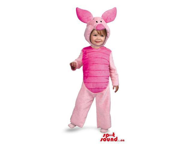 Cute Pink Winnie The Pooh Piglet Character Children Size Costume