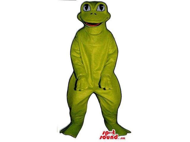 Customised All Green Frog Canadian SpotSound Mascot With Large Eyes