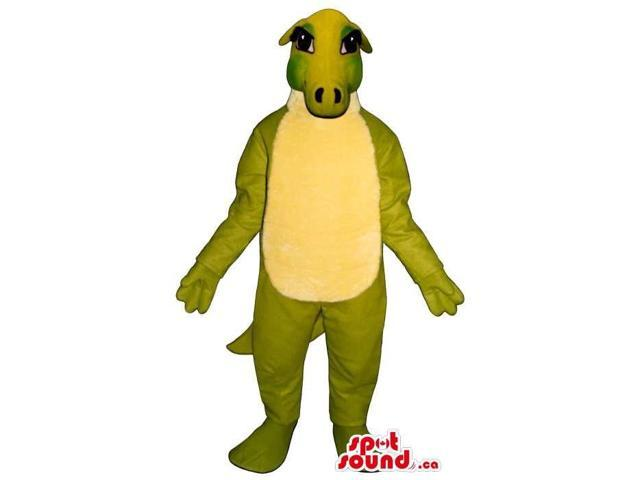 Customised Green Alligator Plush Canadian SpotSound Mascot With A Yellow Belly