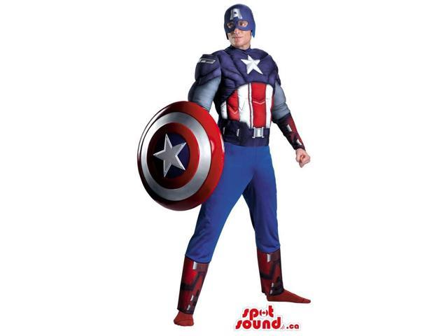 Fantastic Captain America Character Adult Size Costume Or Canadian SpotSound Mascot