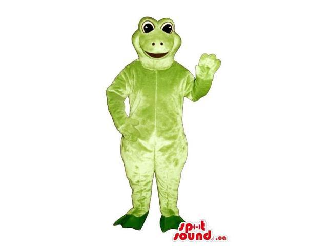 Customised Light Green Frog Canadian SpotSound Mascot With Black Eyes