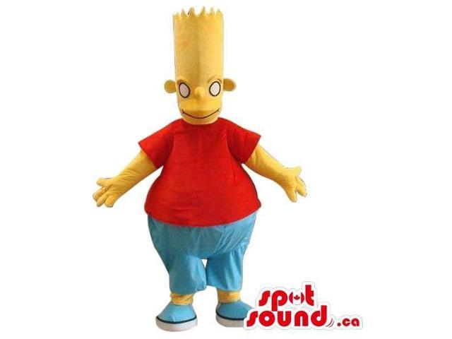 Bart Simpson Well-Known Cartoon Character Large Canadian SpotSound Mascot
