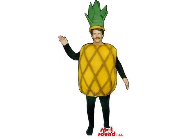 Yellow Pineapple Fruit Adult Size Costume Or Canadian SpotSound Mascot