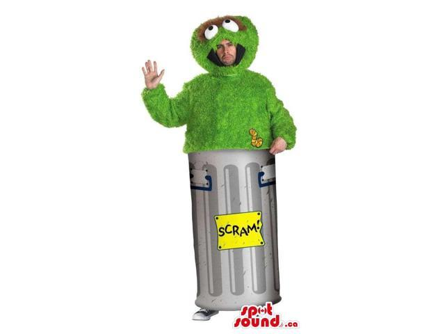 Green Muppet Sesame Street Character Adult Size Costume Or Canadian SpotSound Mascot