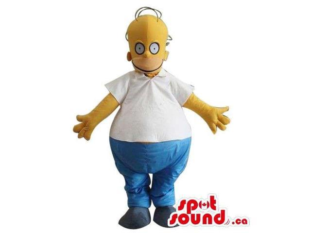Homer Simpson Well-Known Cartoon Character Large Canadian SpotSound Mascot